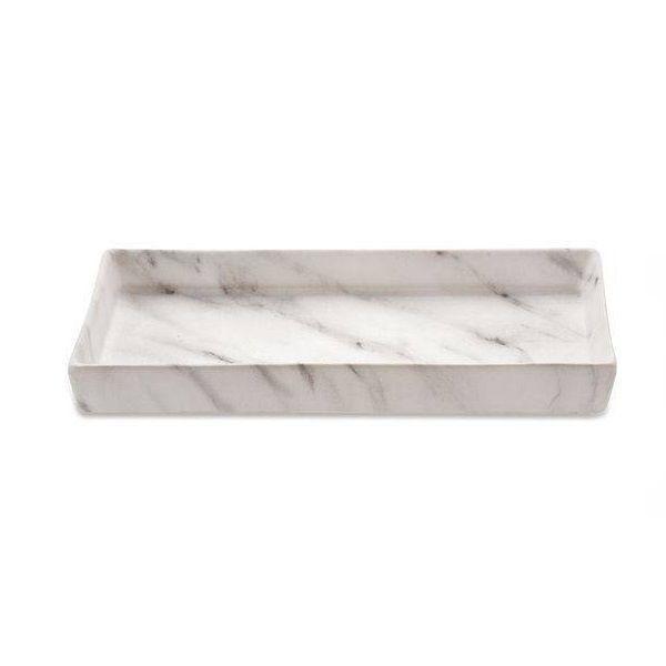 Bandeja Retangular Cerâmica Marmore Decorativa 21x11CM 08713