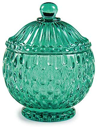 Bomboniere Vaso Decorativo Vidro Esmeralda 11,5x9,5cm 11314 Mart