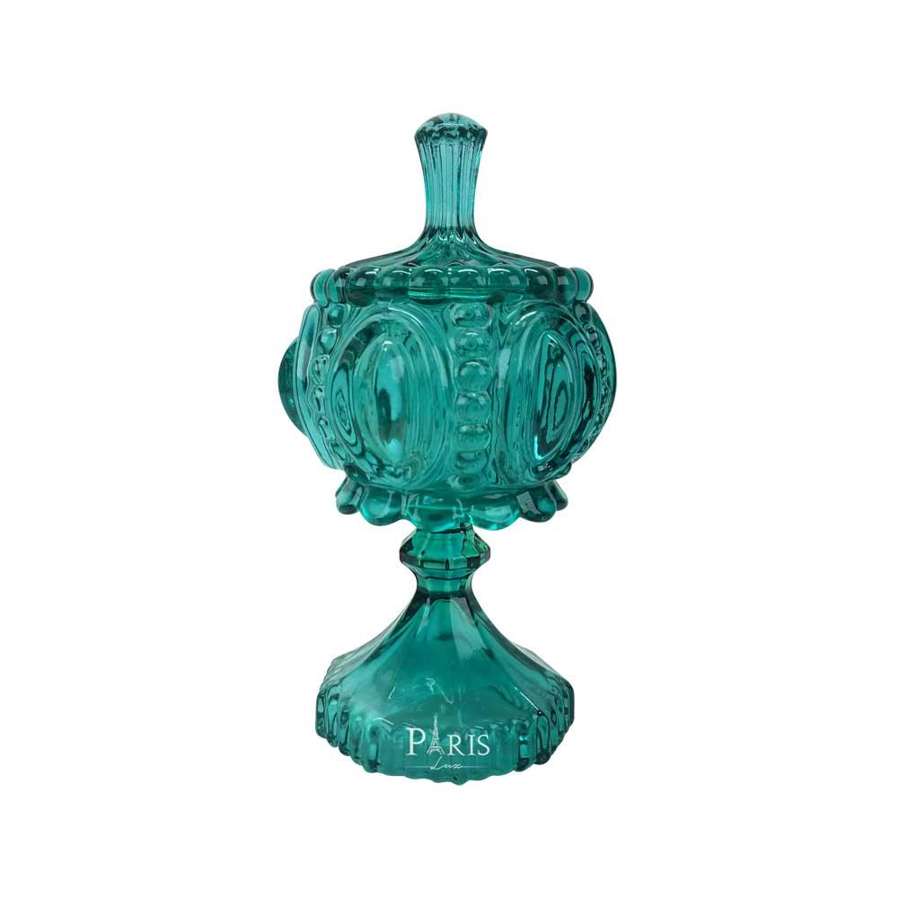 Bomboniere Vaso Decorativo Vidro Esmeralda 17,5x10,5cm 11310 Mart