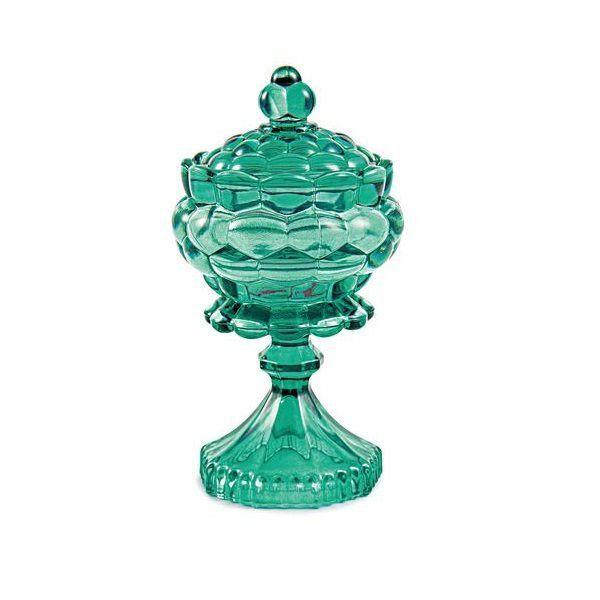 Bomboniere Vaso Decorativo Vidro Esmeralda 17,5x9,5cm 11311 Mart