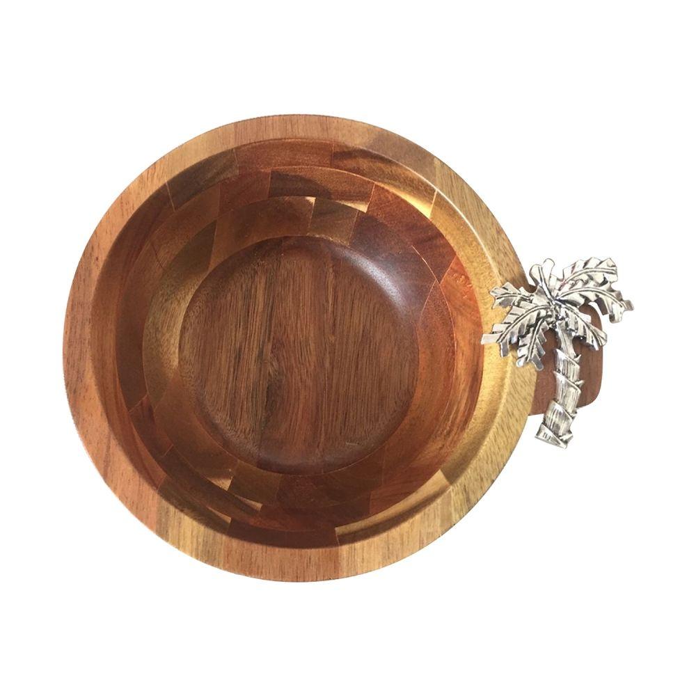 Bowl De Madeira Decorativo Luxo 20X8CM IW0019