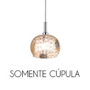 Cupula Vidro Ambar HO7613AM ou HO7616AM 13CM Bella - Somente A Cupula