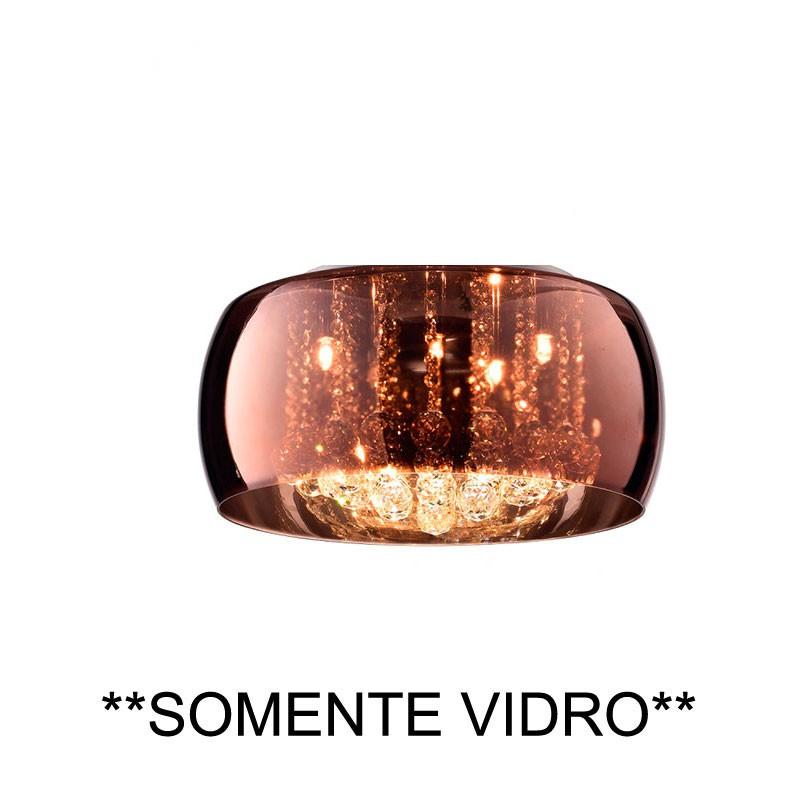 Cupula Vidro Cobre Soho PD006CO 60CM Bella Somente A Cupula