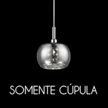 Cupula Vidro Cromada HO7613CR ou HO7616CR 13CM Bella - Somente A Cupula