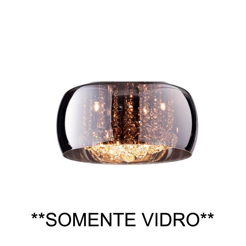 Cupula Vidro Cromado Soho PD001CR Bella Somente A Cupula