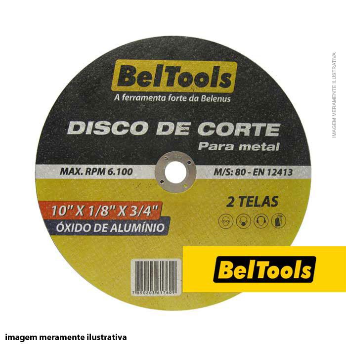 DISCO CORTE FERRO 10X1/8X3/4 BELTOOLS