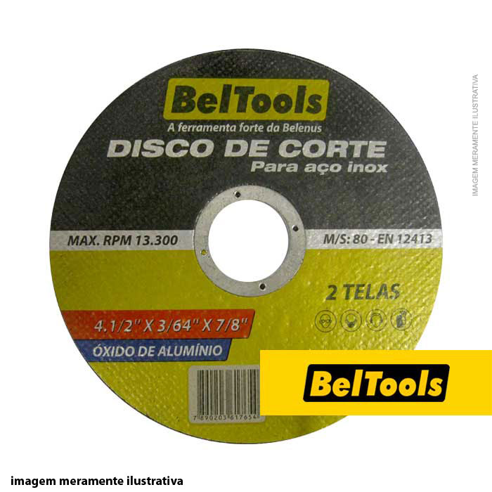 DISCO CORTE INOX 4.1/2X3/64X7/8 BELTOOLS