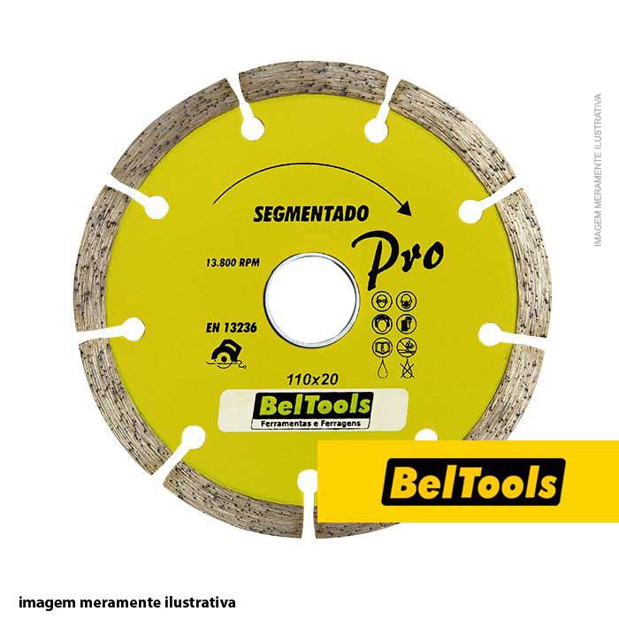 DISCO DE CORTE DIAMANTADO SEGMENTADO 110X20 BELTOOLS