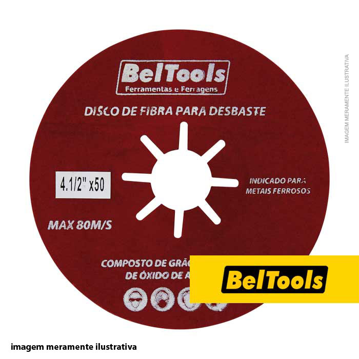 DISCO DE FIBRA DESBASTE 7X60 BELTOOLS