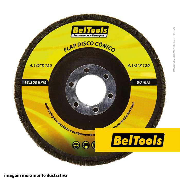 DISCO DESBASTE FLAP CONICO 4.1/2X40 BELTOOLS