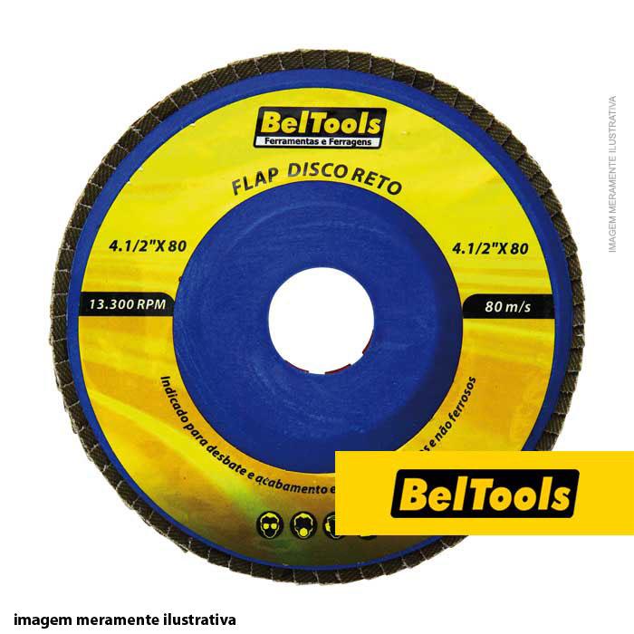DISCO DESBASTE FLAP RETO 4.1/2X120 BELTOOLS