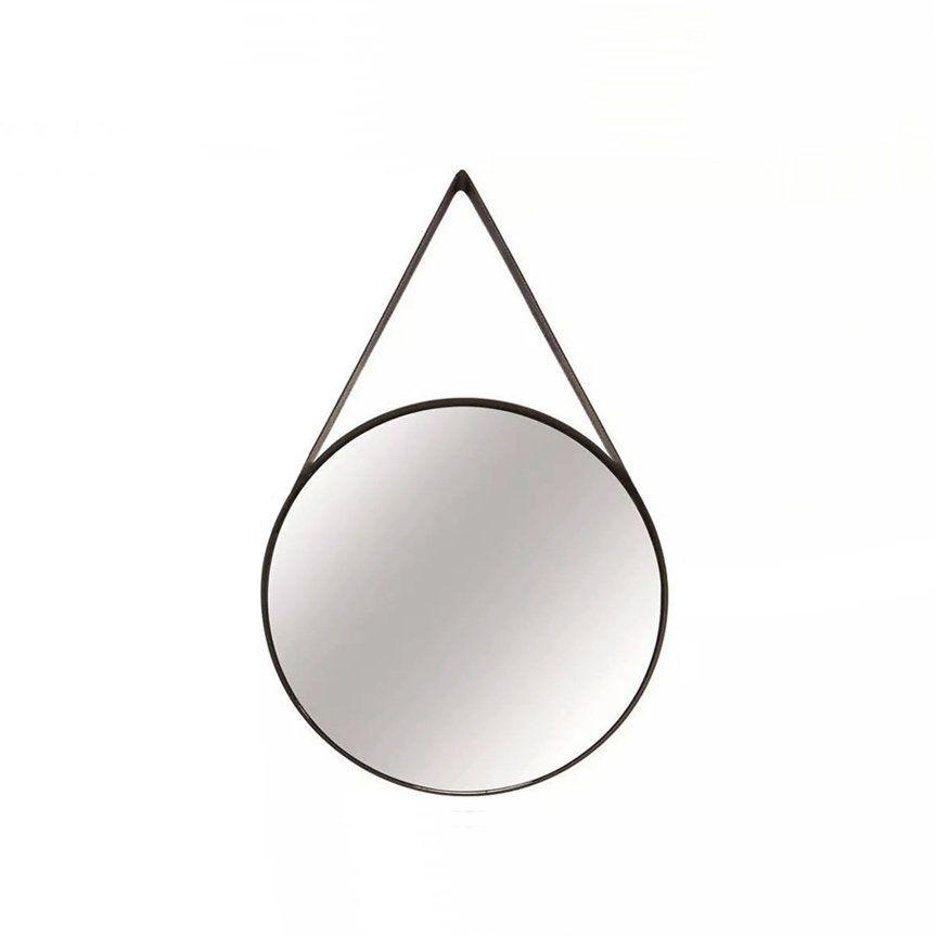 Epelho Redondo Decorativo Luxo Metal Preto 40CM 9398