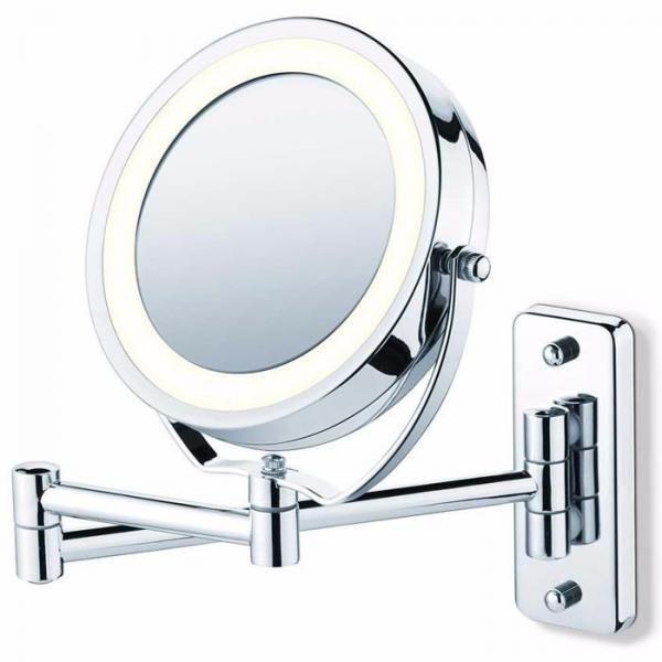 Espelho Articulado Parede e Bancada Iluminado Maquiagem 28cm