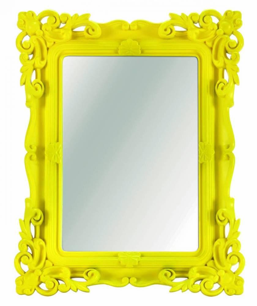 Espelho Barrock Amarelo Decorativo 16,5x21CM 4040 Mart Collection