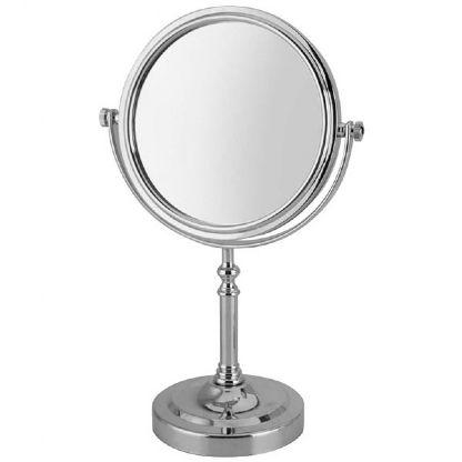 Espelho de Mesa Redondo Dupla Face Com Aumento 2x - 28CM