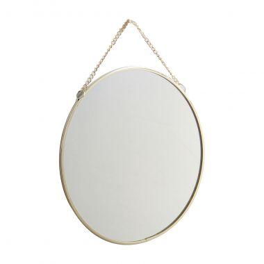 Espelho Decorativo Redondo Dourado 20cm Kv0120 Btc