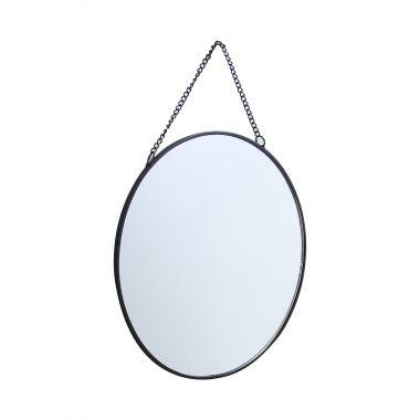 Espelho Decorativo Redondo Preto 20cm Kv0123 Btc