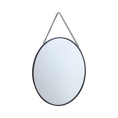 Espelho Decorativo Redondo Preto 24cm Kv0122 Btc