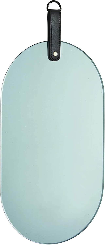 Espelho Oval Fumê com Alça 37x18cm 12390 Mart