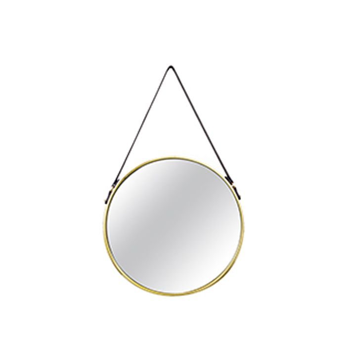 Espelho Redondo Decorativo Luxo Dourado 36CM 6383 Mart Collection
