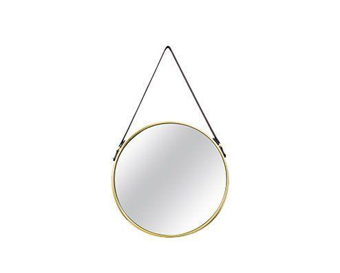Espelho Redondo Decorativo Luxo Metal Dourado 40CM 6382