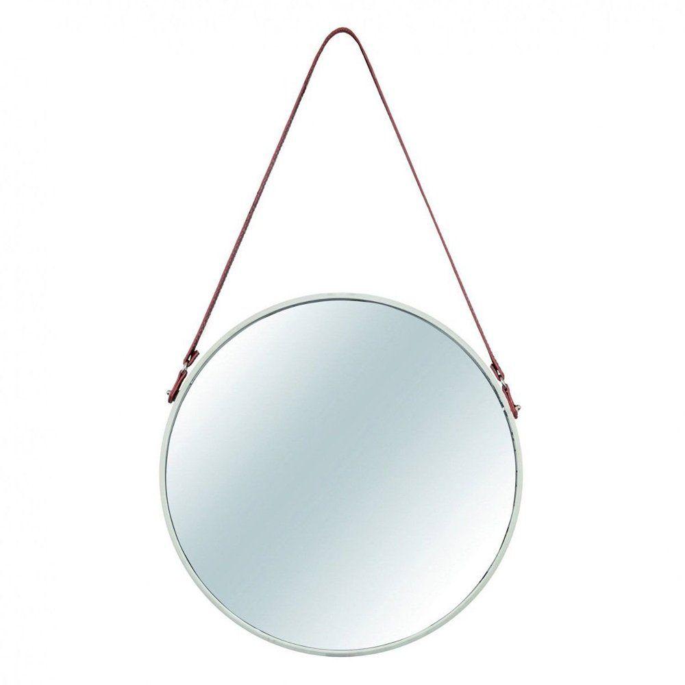 Espelho Redondo Decorativo Luxo Metal Off White 45CM 7974