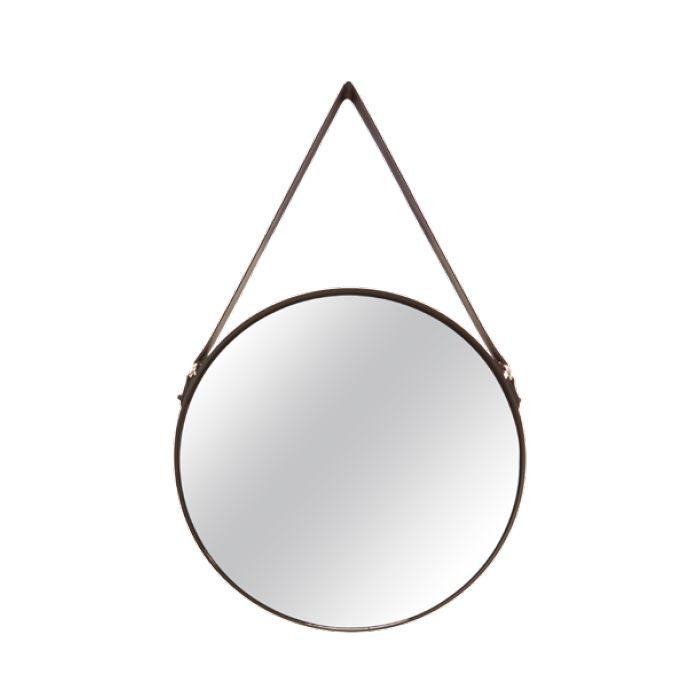 Espelho Redondo Decorativo Luxo Preto 36CM 7294 Mart Collection