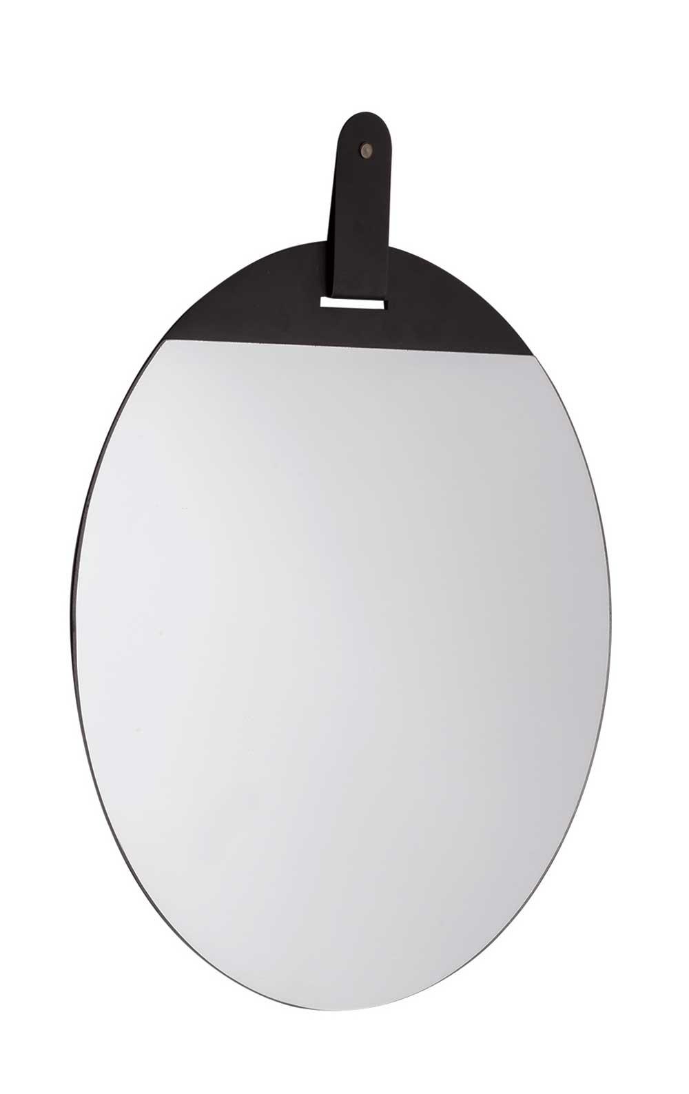 Espelho Redondo Decorativo Metal Preto 40CM 10514 Mart Collection