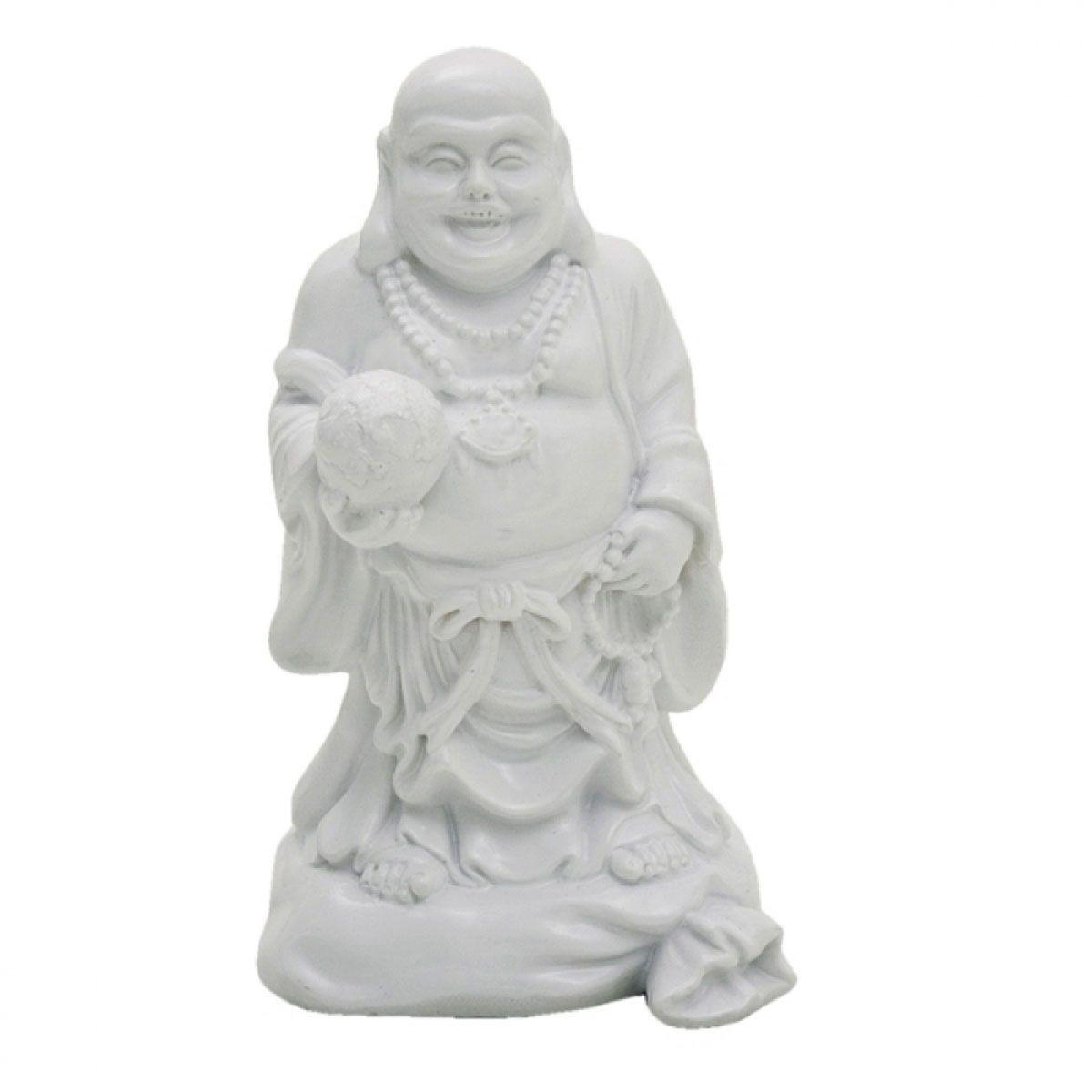 Figura de Resina Buddah Branca 14CM
