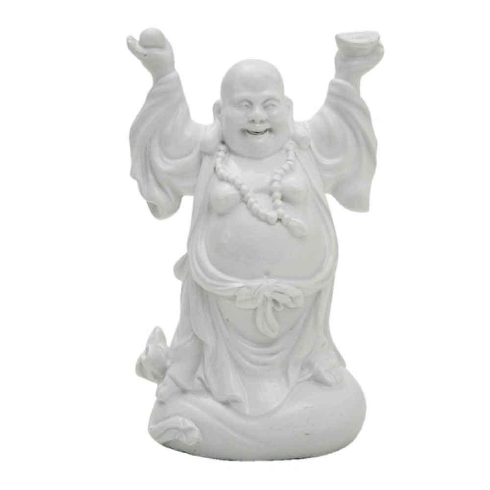 Figura de Resina Buddah Branca 16CM