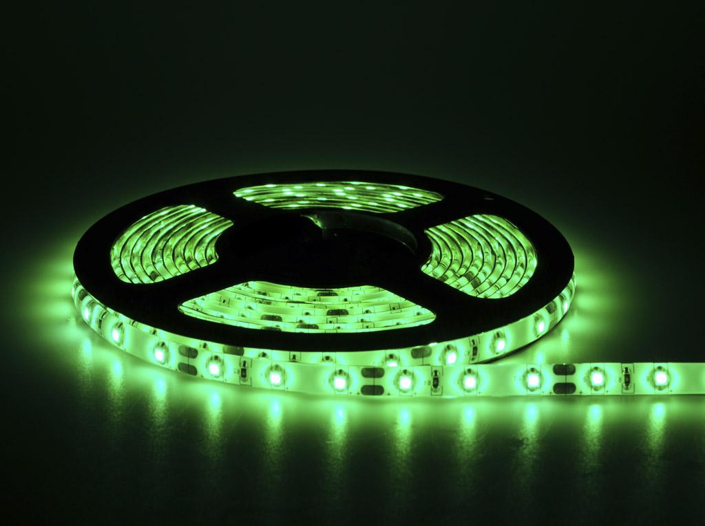 Fita De Led 12V Verde IP65 LED3528 Rolo 5 Metros