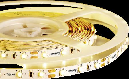Kit 1x Fita de LED 5M 4,8W/M 4000K 12V IP20 Save Energy + 1x Fonte Slim 12V 2A