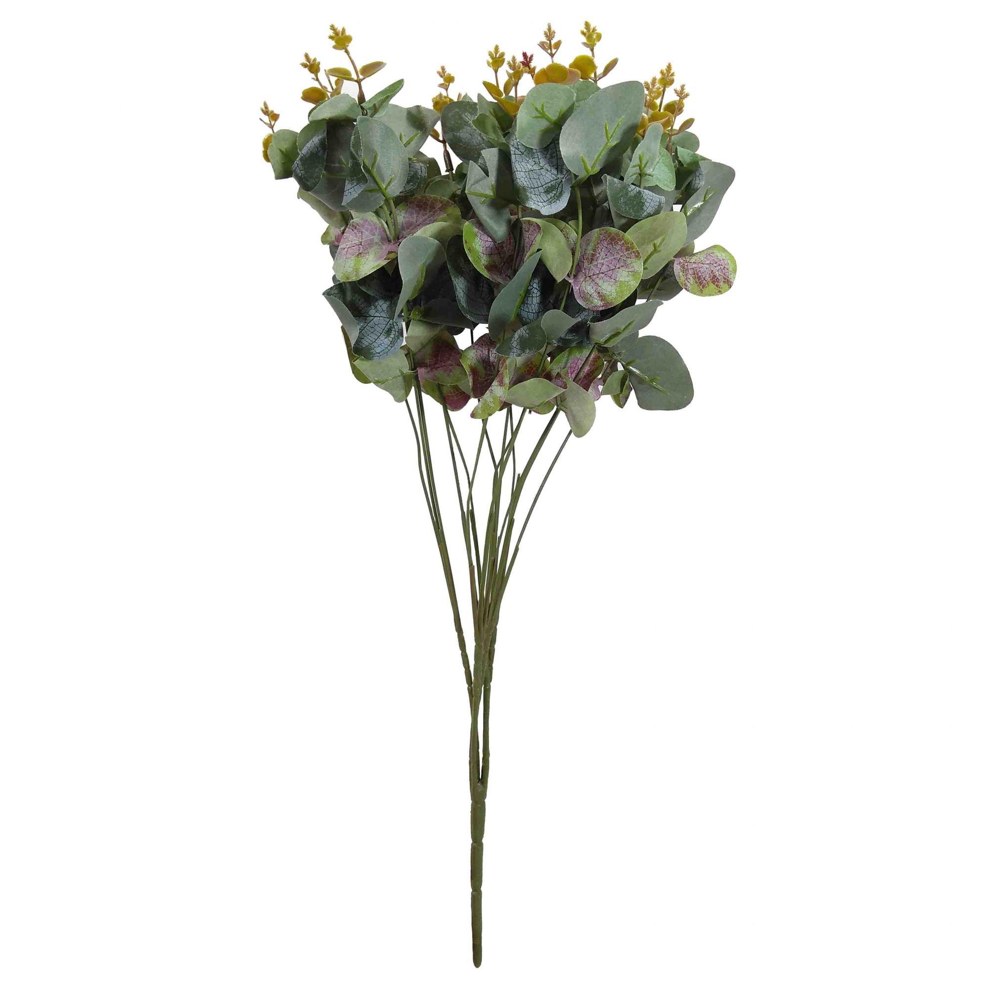 Flor Eucalipto Cor Outono Artificial Permanente 50CM 26514-003