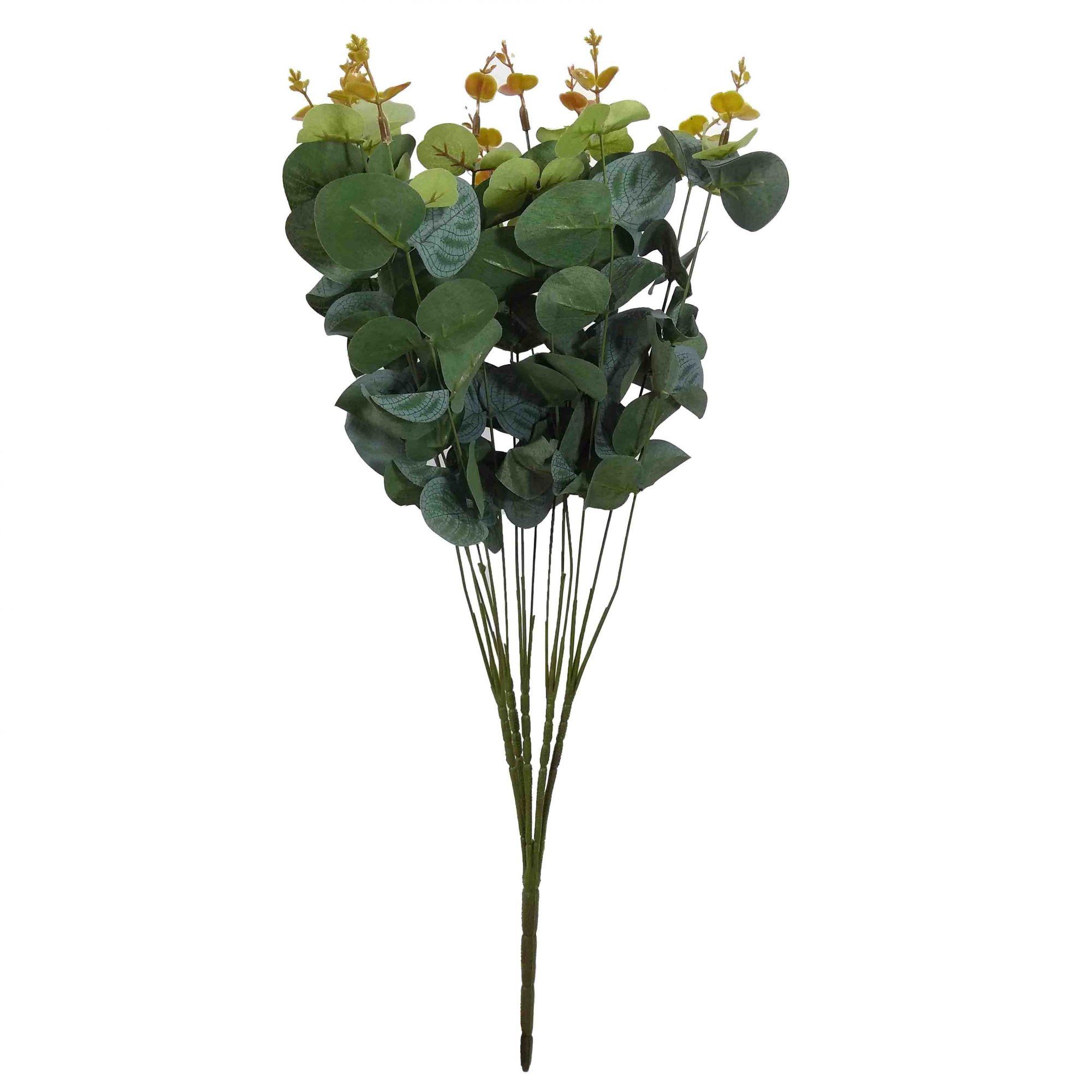 Flor Eucalipto Cor Verde Outono Artificial Permanente 50CM 26514-002