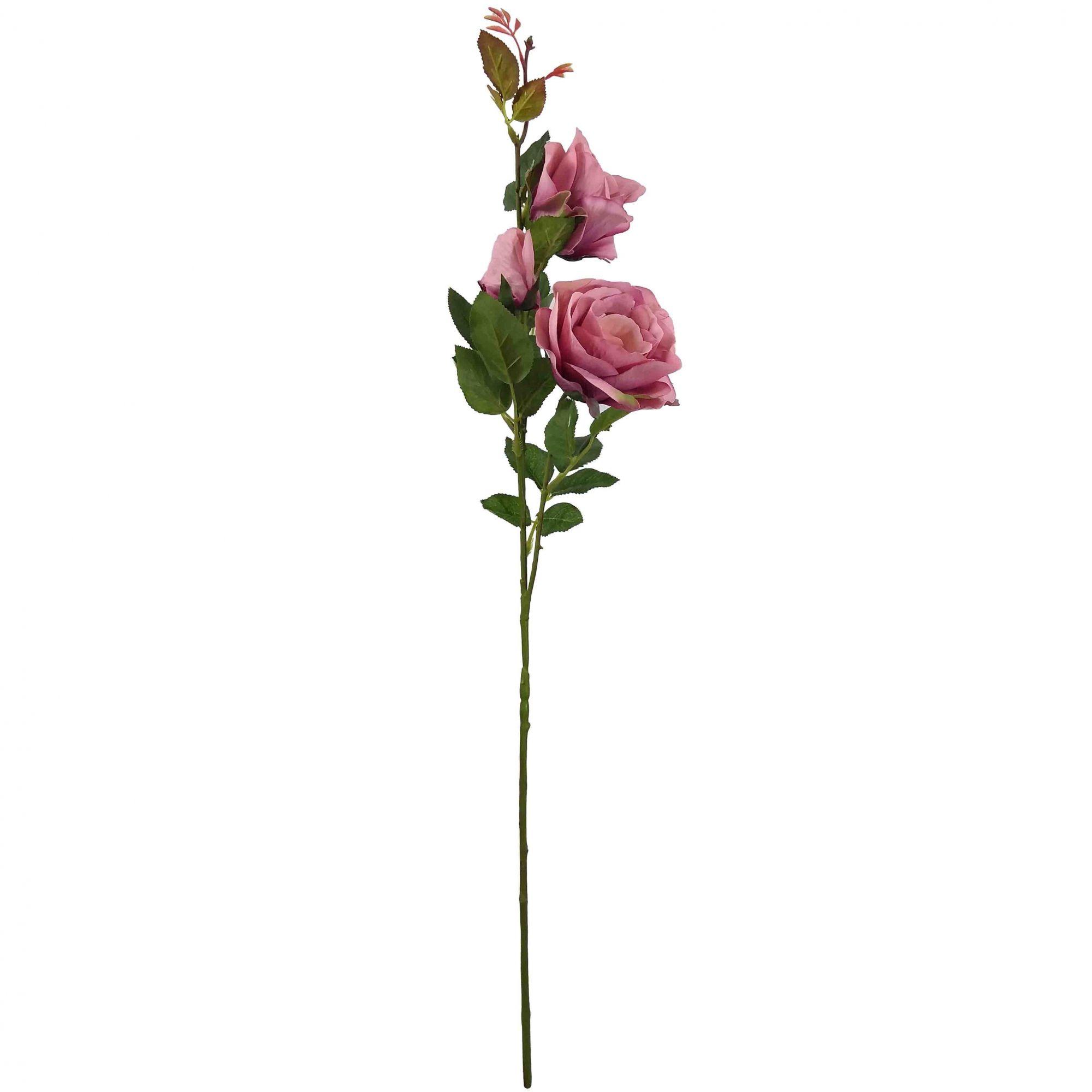 Flor Rosa Cor Rosa Outono Artificial Permanente 76CM 37365-005