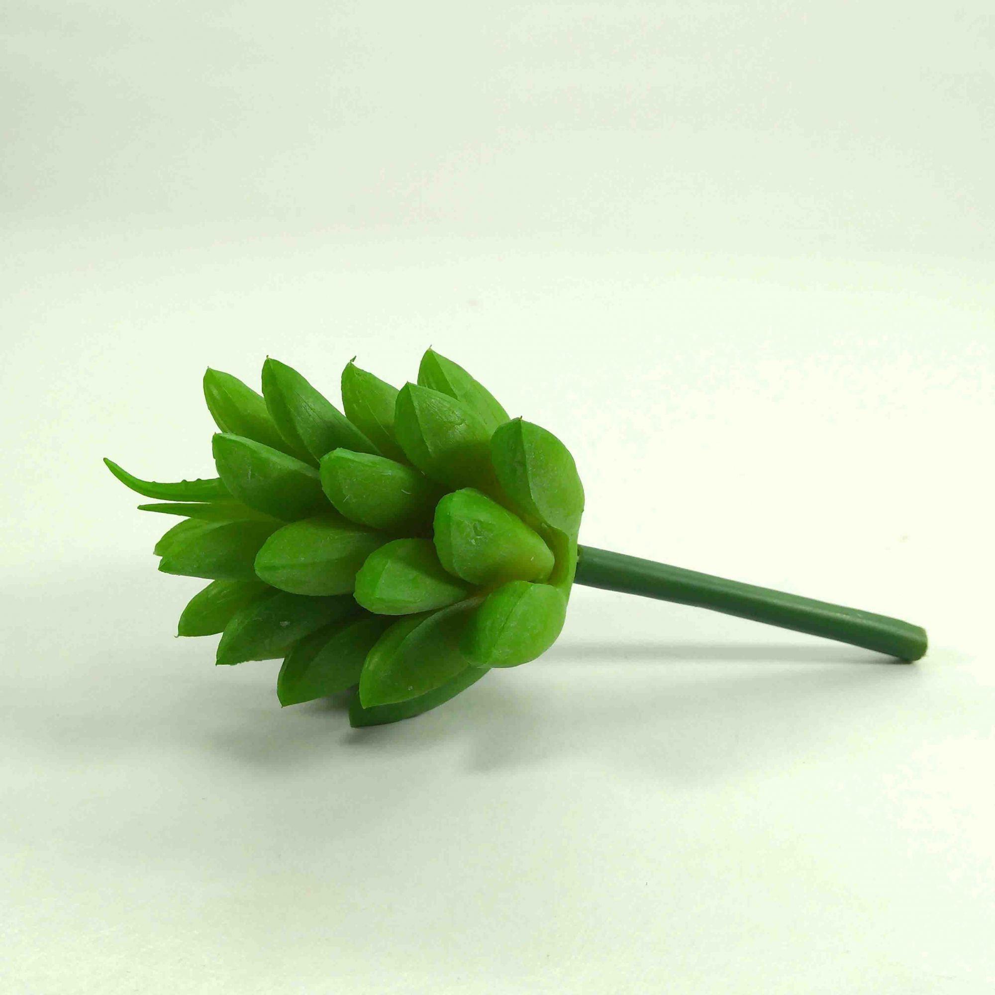 Flor Suculenta Cor Verde Artificial Permanente 9CM 35064-001