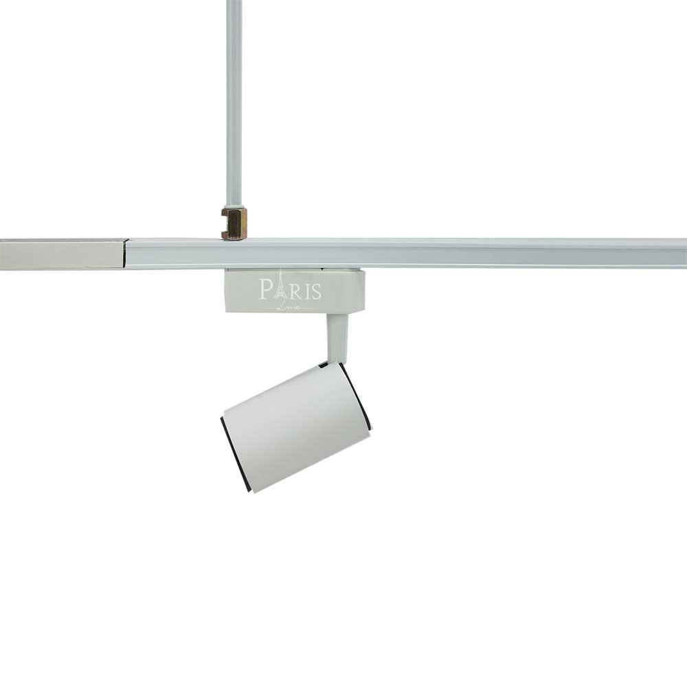 Haste Pendente Em Alumínio Para Trilho Eletrificado 20Cm Branco