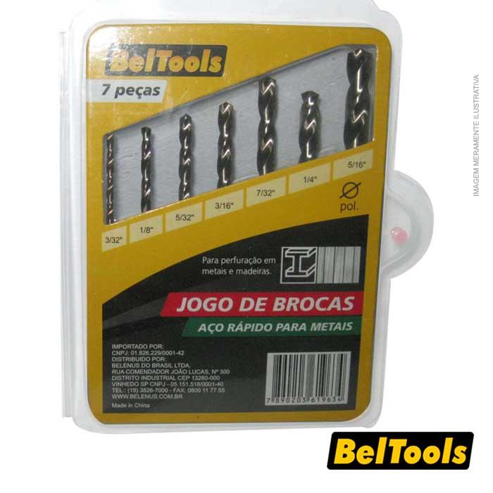 JOGO DE BROCAS COMBINADAS 7 PEÇAS 2 A 8 MM BELTOOLS