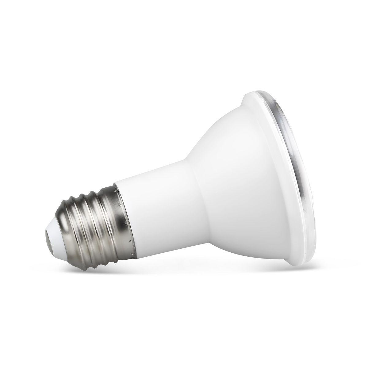 Kit 04x Spot Embutir Face Recuado + Lampada Par20 7w Luz Neutra 4000k