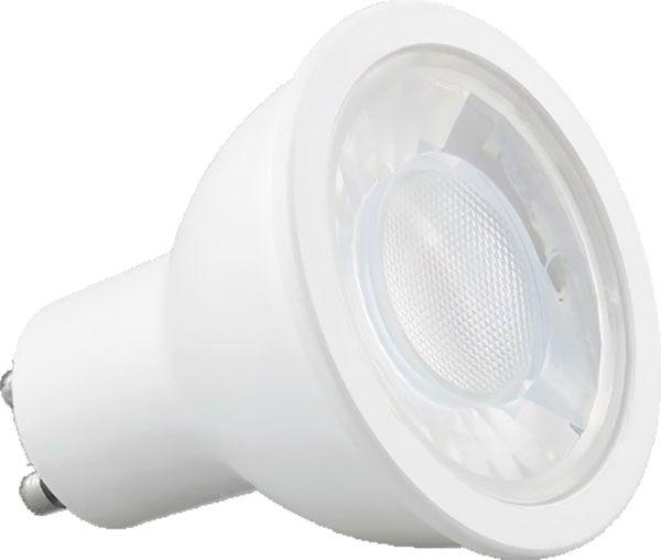 Kit 05x Spot Embutir Dicróica Preto Recuada + 7x Lâmpada LED 7W 2700K Save