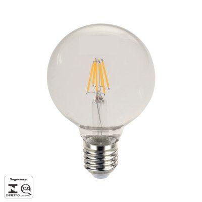 Kit 09x Lampada Vintage Filamento De Led G95 8w 2700k E27 Biv Bella