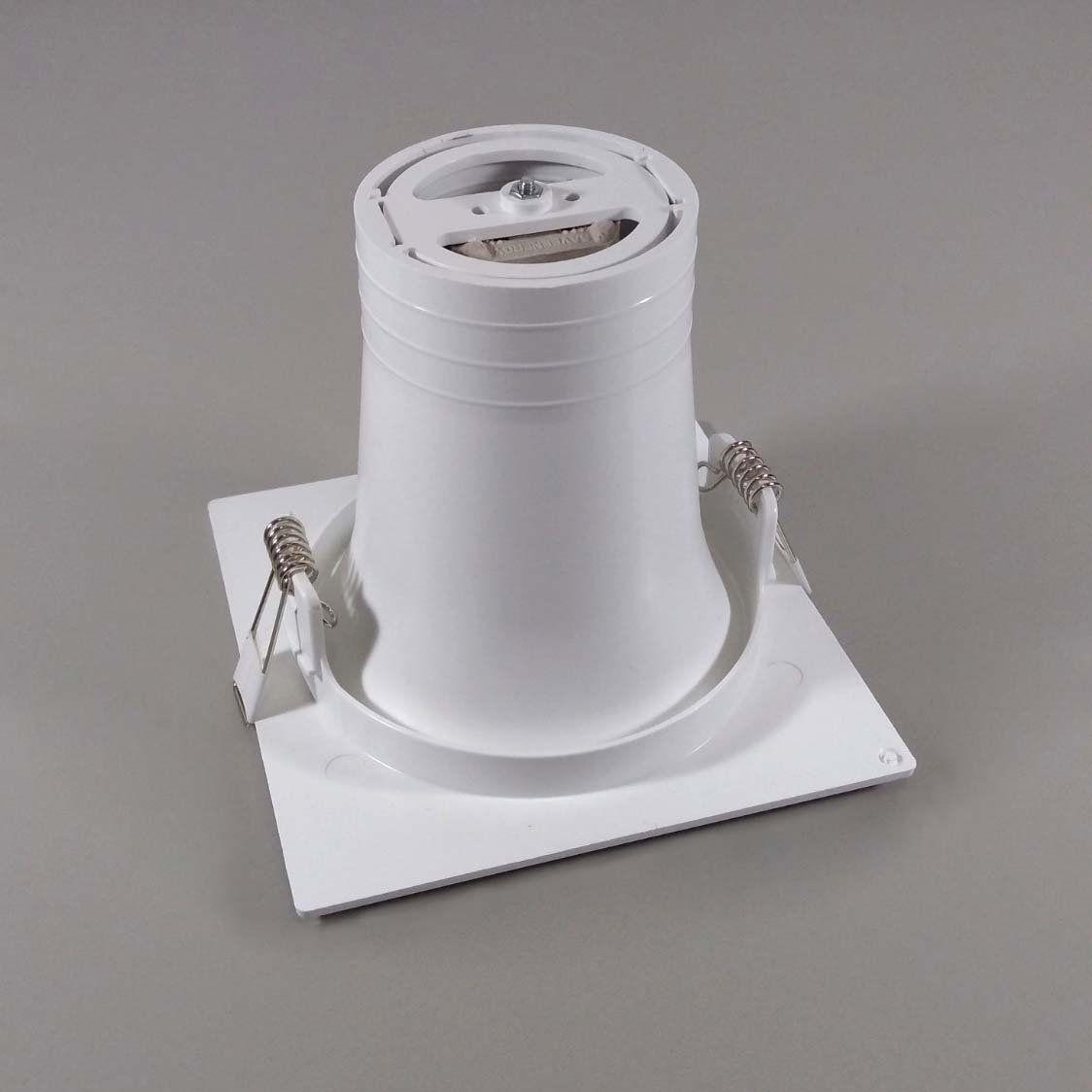 Kit 10x Spot Embutido Quadrado Bulbo Branco Save Energy