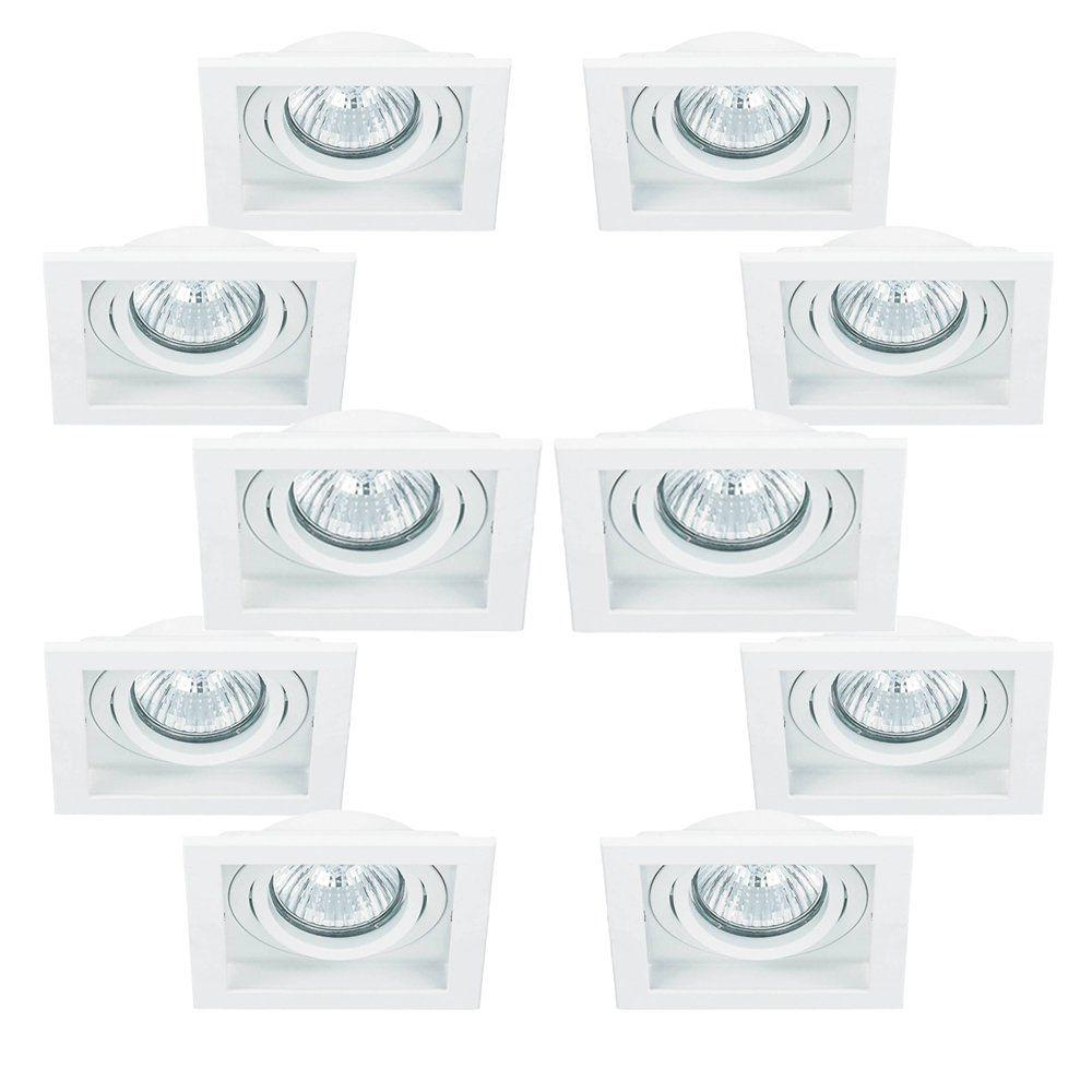 Kit 10x Spot Embutir Dicroica Branco Conecta NS7001B Bella