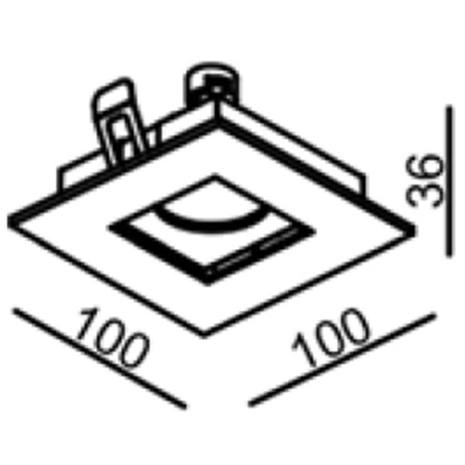 Kit 1x Spot NS250Q + 1x Lâmpada Dicroica 7W 2700K