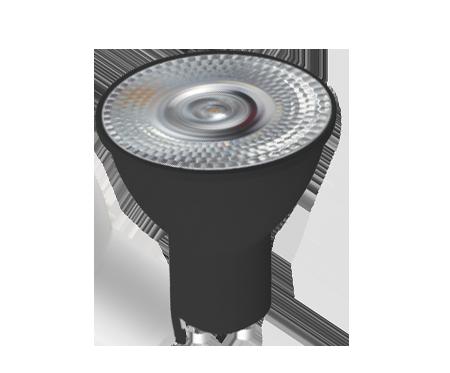Kit 2x Spot Embutido Quadrado Bulbo Branco + 3x Lâmpada Dicroica Led Alto IRC 6W 2700K Bivolt Preto GU10 Save Energy