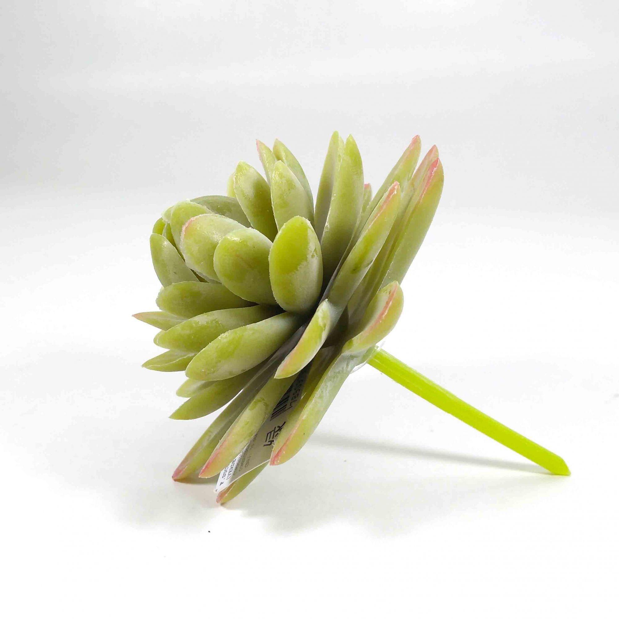 Kit 3 Vasos Cimento Preto/Cobre + Flor Suculenta
