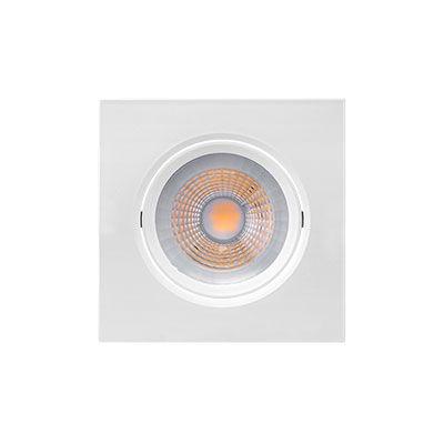 Kit 3x Spot Led Embutir Par20 Quadrado 7w 2700k 12cm Brilia