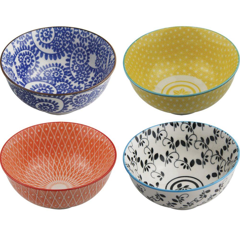 Kit 4 Bowls/Cumbuca De Porcelana Decorativo 12cm HP0006
