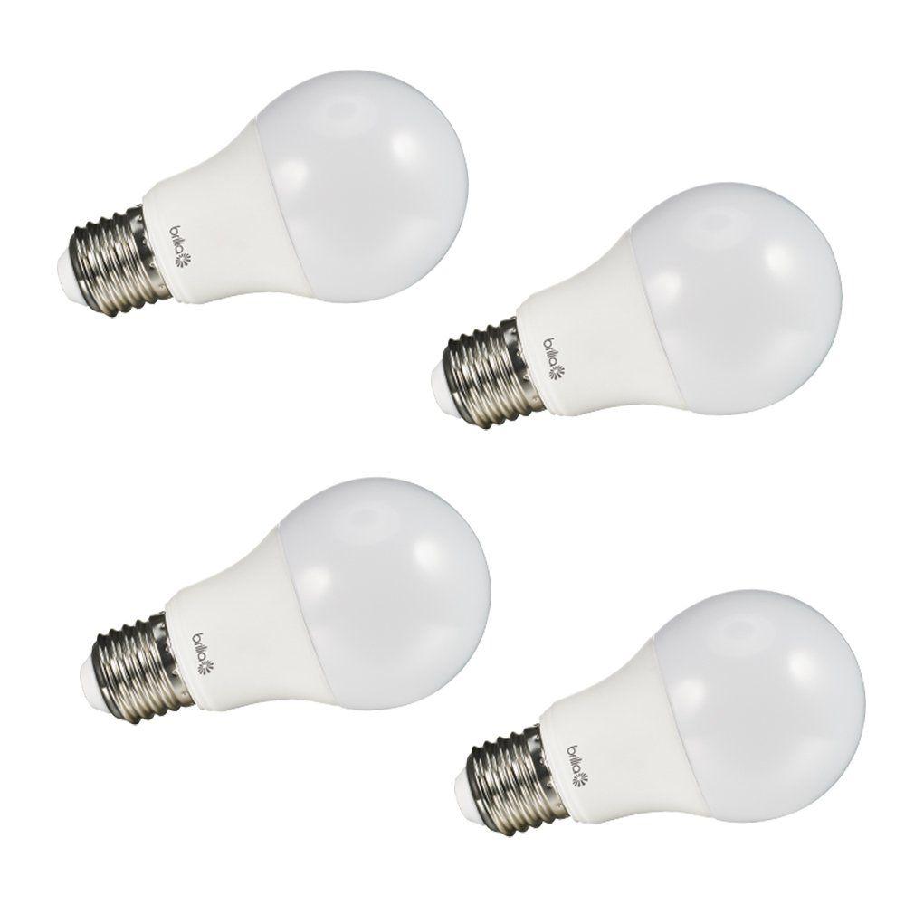 Kit 4x Lâmpada LED Bulbo A60 9W 6500K Bivolt Brilia Smart