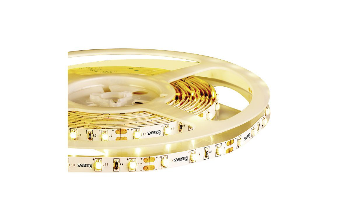 Kit 5x Fita de LED 5M 4,8W/M 4000K 12V IP20 + 1x IP54